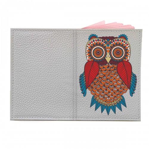 """Обложка на паспорт с принтом """"Счастливая сова"""""""