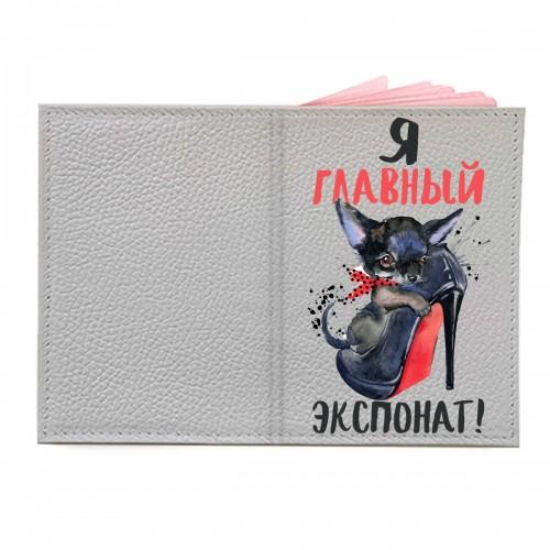 """Обложка на паспорт с принтом """"Экспонат"""""""