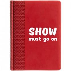 """Ежедневник с принтом """"Show must go on-2"""""""