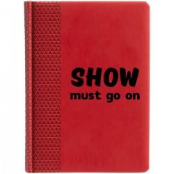 """Ежедневник с принтом """"Show must go on-1"""""""