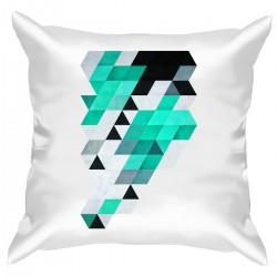 """Подушка с принтом """"Mint pixels"""""""