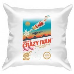 "Подушка с принтом ""Crazy Ivan"""