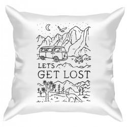 """Подушка с принтом """"Lets get lost"""""""