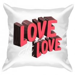 """Подушка с принтом """"Love let and love"""""""