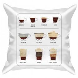 """Подушка с принтом """"Coffee cups"""""""