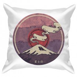 "Подушка с принтом ""Гора Фудзи"""