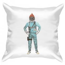 """Подушка с принтом """"Космонавт в шапке"""""""