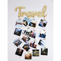 """Фоторамка - держатель для фото с прищепками """"Travel"""""""