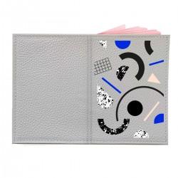 """Обложка на паспорт с принтом """"Геометрическая абстракция"""""""