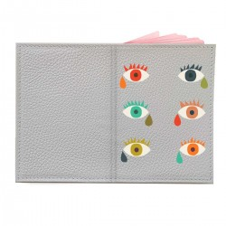 """Обложка на паспорт с принтом """"Разноцветные глаза"""""""