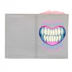 "Обложка на паспорт с принтом ""Heart eater"""