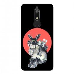 """Чехол для Nokia с принтом """"Кролик путешественник во времени"""""""