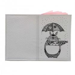 """Обложка на паспорт с принтом """"Тоторо под дождем"""""""