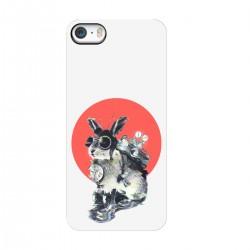 """Чехол для Apple iPhone с принтом """"Кролик путешественник во времени"""""""
