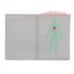 "Обложка на паспорт с принтом ""Роза в теле мужчины"""