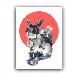"""Холст с принтом """"Кролик путешественник во времени"""" (30x40 cм)"""