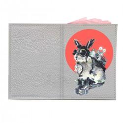 """Обложка на паспорт с принтом """"Кролик путешественник во времени"""""""