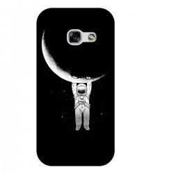 """Чехол для Samsung с принтом """"Космонавт и полумесяц"""""""