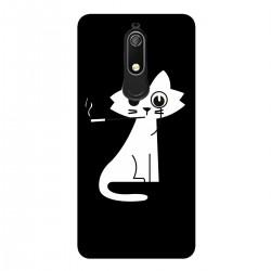 """Чехол для Nokia с принтом """"Кошка с сигаретой"""""""