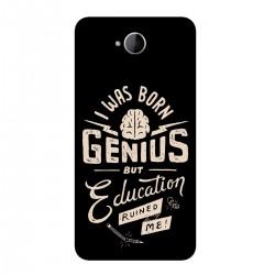 "Чехол для Microsoft с принтом ""I was born genius but education ruined me"""
