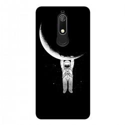 """Чехол для Nokia с принтом """"Космонавт и полумесяц"""""""