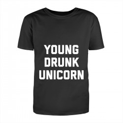 """Футболка с принтом """"Young drunk unicorn"""""""