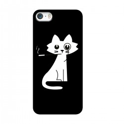 """Чехол для Apple iPhone с принтом """"Кошка с сигаретой"""""""