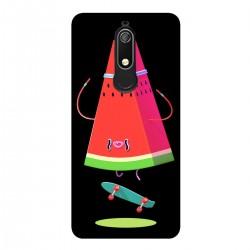 """Чехол для Nokia с принтом """"Арбуз на скейте"""""""