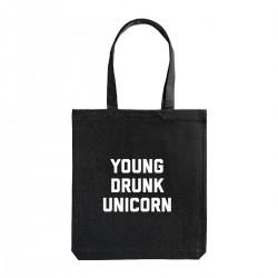 """Сумка холщовая с принтом """"Young drunk unicorn"""""""