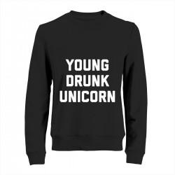 "Свитшот с принтом ""Young drunk unicorn"""