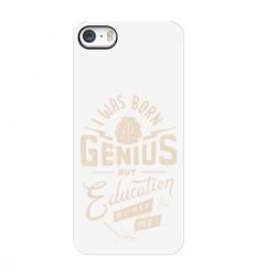 "Чехол для Apple iPhone с принтом ""I was born genius but education ruined me"""
