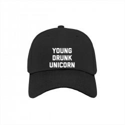 """Бейсболка с принтом """"Young drunk unicorn"""""""