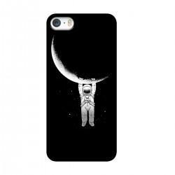 """Чехол для Apple iPhone с принтом """"Космонавт и полумесяц"""""""