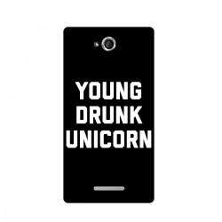 "Чехол для Sony с принтом ""Young drunk unicorn"""
