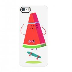 "Чехол для Apple iPhone с принтом ""Арбуз на скейте"""