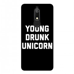 """Чехол для Nokia с принтом """"Young drunk unicorn"""""""