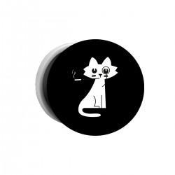 """Попсокет с принтом """"Кошка с сигаретой"""""""