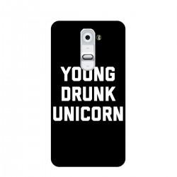 """Чехол для LG с принтом """"Young drunk unicorn"""""""