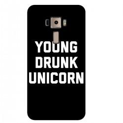"""Чехол для Asus с принтом """"Young drunk unicorn"""""""