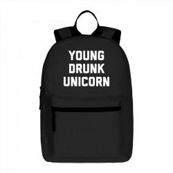 "Рюкзак с принтом ""Young drunk unicorn"""
