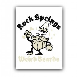 "Холст с принтом ""Rock springs Weird Beards"" (30x40 cм)"