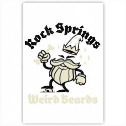 "Холст с принтом ""Rock springs Weird Beards"" (20x30cм)"