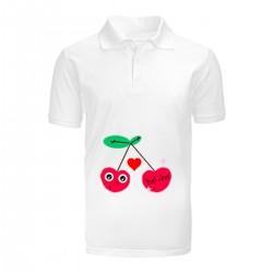 """Поло с принтом """"Влюбленная вишня"""""""