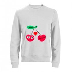 """Свитшот с принтом """"Влюбленная вишня"""""""