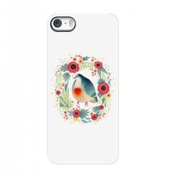 """Чехол для Apple iPhone с принтом """"Голубь и цветы"""""""