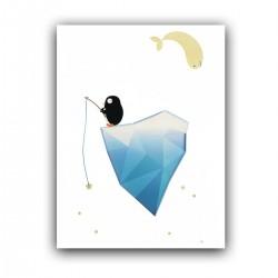"""Холст с принтом """"Пингвин на айсберге"""" (30x40 cм)"""