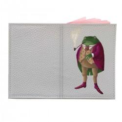 """Обложка на паспорт с принтом """"Мистер лягушка"""""""
