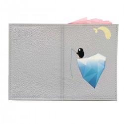 """Обложка на паспорт с принтом """"Пингвин на айсберге"""""""