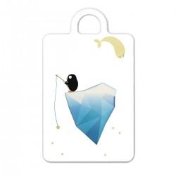 """Брелок с принтом """"Пингвин на айсберге"""""""