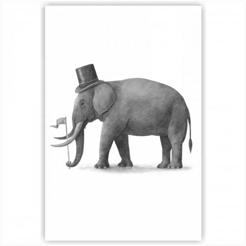 """Холст с принтом """"Слон"""" (20x30cм)"""